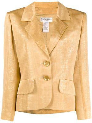 Золотистая желтая куртка на пуговицах Yves Saint Laurent Pre-owned