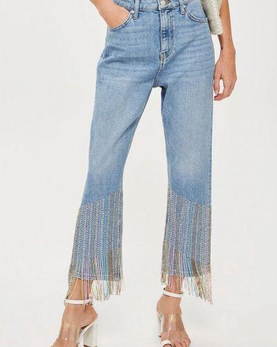 Голубые прямые джинсы Topshop