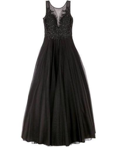 Вечернее платье с вышивкой с открытой спиной с бисером Basix Black Label