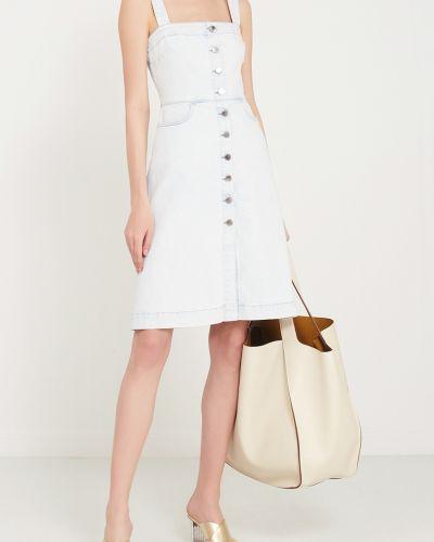 Платье миди джинсовое на пуговицах Stella Mccartney