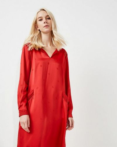 Красное платье прямое Boss Orange