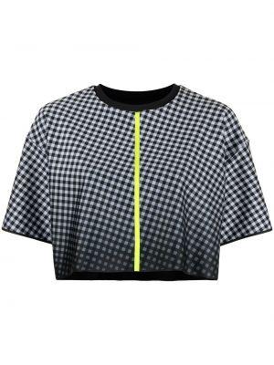 Прямая с рукавами черная спортивная футболка Ultracor