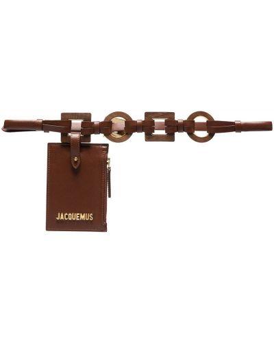Кожаный ремень - коричневый Jacquemus