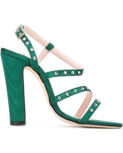 Открытые босоножки на высоком каблуке на каблуке с пряжкой Leandra Medine