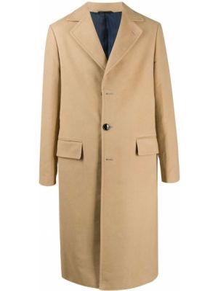 Klasyczny beżowy płaszcz bawełniany Mp Massimo Piombo