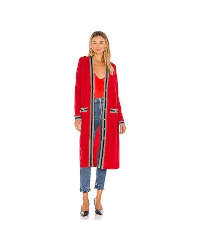 Красный свитер металлический с карманами L'agence
