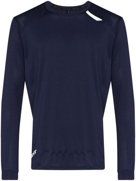 Синяя рубашка с длинными рукавами для бега Soar