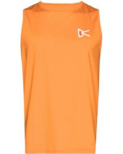 Pomarańczowa koszulka z siateczką District Vision