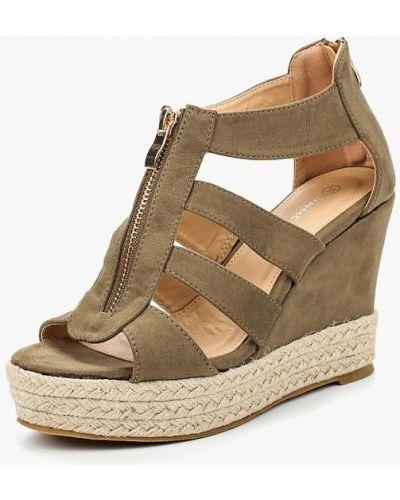 Эспадрильи зеленый хаки Sweet Shoes