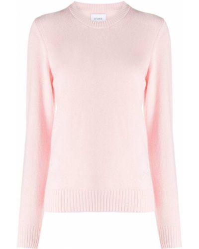 Кашемировый тонкий розовый вязаный джемпер с вышивкой Barrie