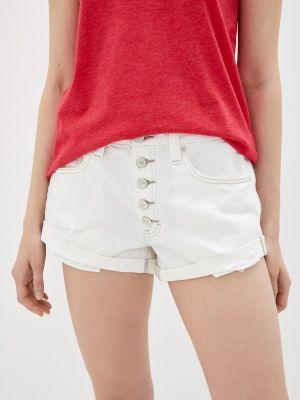 Белые джинсовые шорты свободного кроя Free People