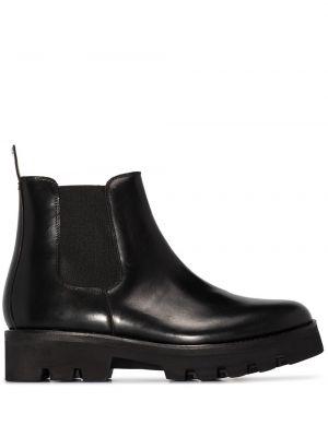 Кожаные ботинки челси - черные Grenson