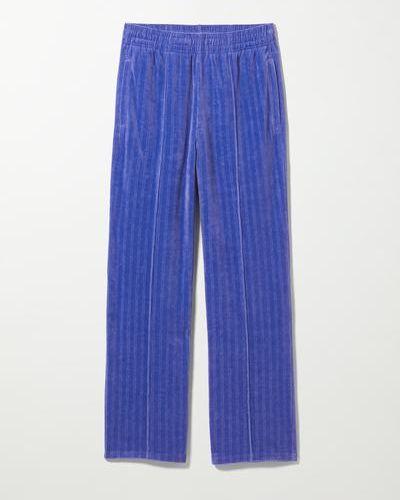 Синие нарядные брюки Weekday