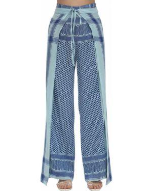 Свободные брюки с запахом с принтом Cecilie Copenhagen