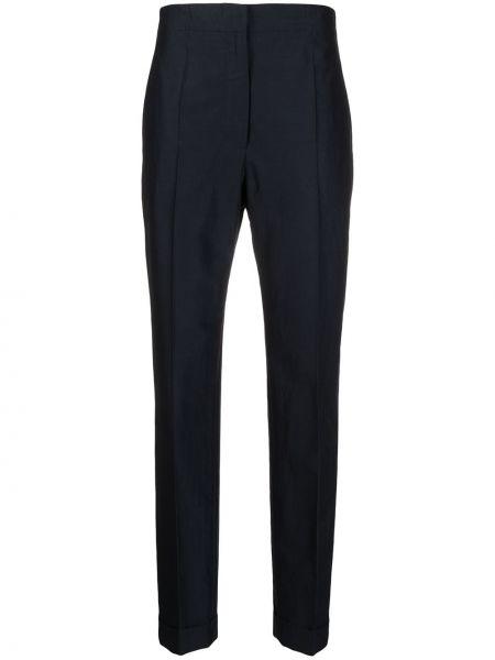 С завышенной талией синие брюки с карманами Christian Wijnants