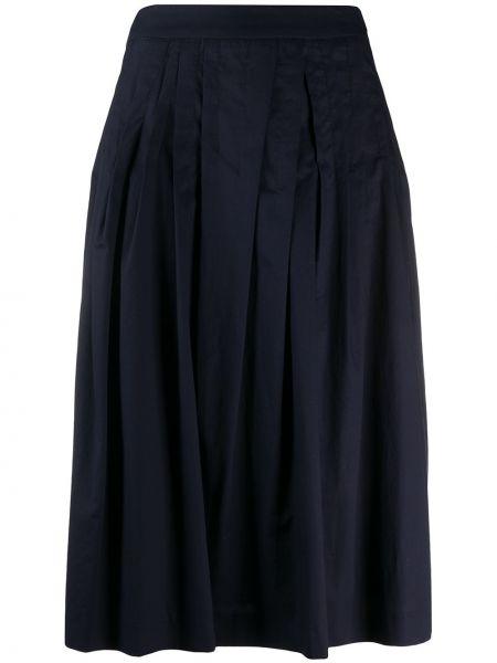 Spódnica midi plisowana niebieska Peserico