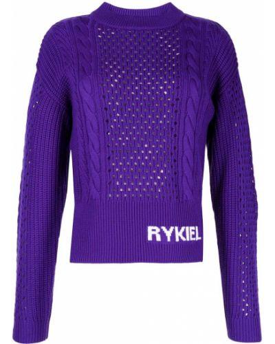 Джемпер с вышивкой - фиолетовый Sonia Rykiel
