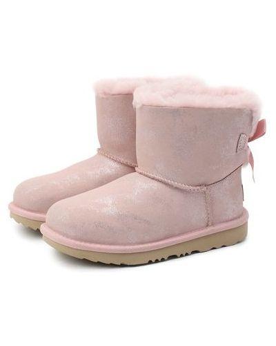 Шерстяные розовые сапоги с подкладкой Ugg