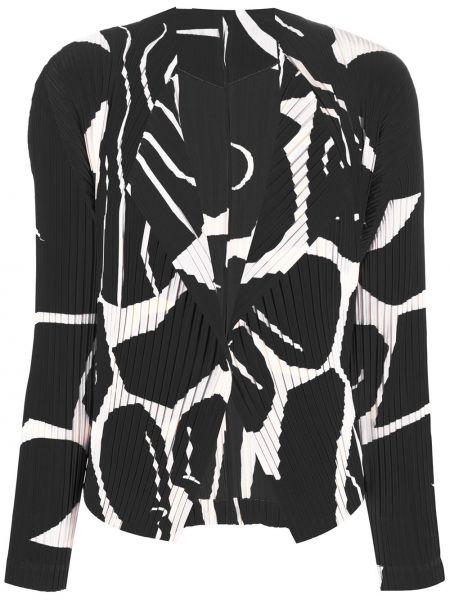 Черный пиджак с воротником на пуговицах Issey Miyake