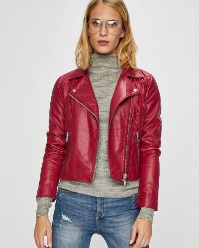 Кожаная куртка облегченная с карманами Jacqueline De Yong