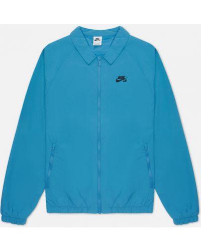 Голубая куртка с вышивкой Nike Sb