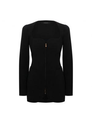 Черный итальянский пиджак Versace