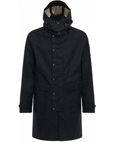 Bawełna bawełna czarny płaszcz na przyciskach Belstaff