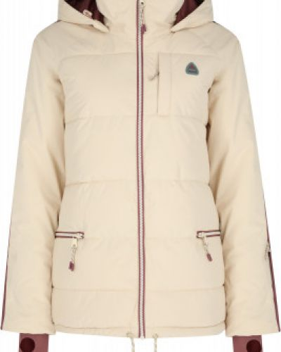 Бежевая утепленная куртка горнолыжная сноубордическая Burton