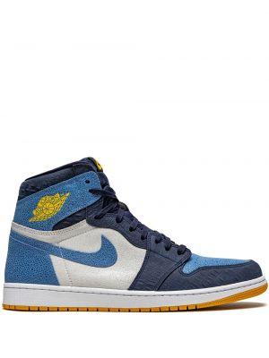 Высокие кроссовки винтажные с нашивками на шпильке Jordan