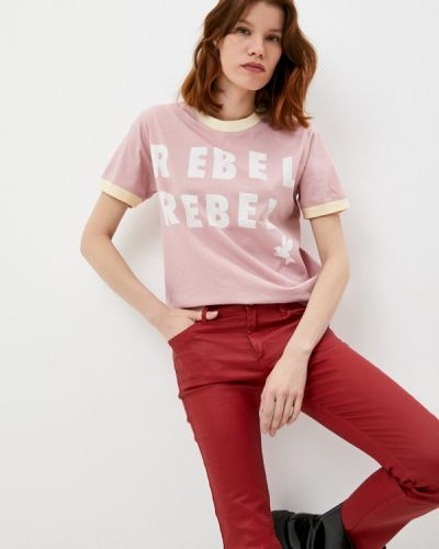 Розовая футболка с короткими рукавами One Teaspoon