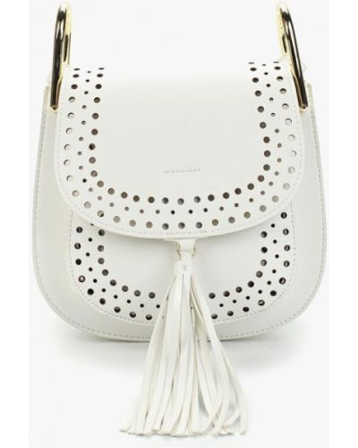 Белая сумка через плечо Vitacci