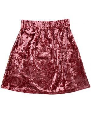 Różowa spódnica mini z aksamitu Paade Mode