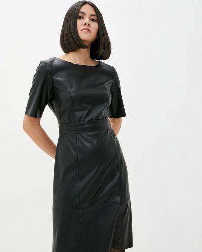 Кожаное черное платье Taifun