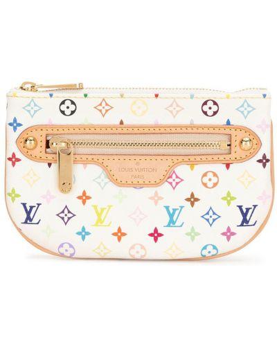 Кожаный кошелек для монет на молнии с карманами Louis Vuitton