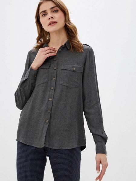 Рубашка с длинным рукавом серая Piazza Italia