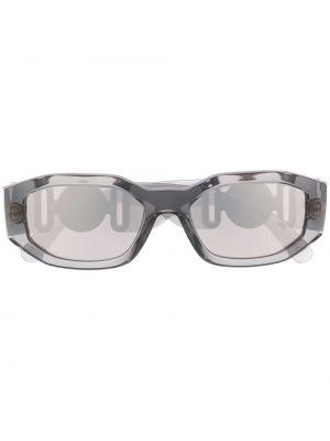 Прямые золотистые желтые солнцезащитные очки прямоугольные Versace Eyewear
