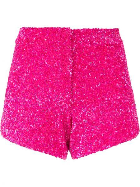 Розовые нейлоновые шорты с декоративной отделкой Manish Arora