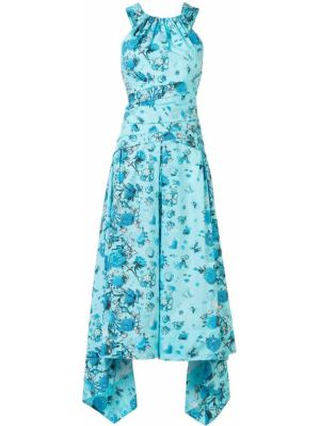 Платье миди синее платье-солнце Peter Pilotto