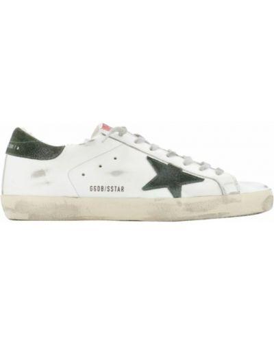 Buty sportowe skorzane - białe Golden Goose