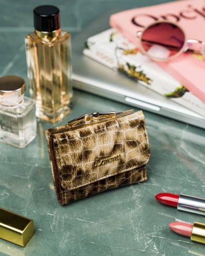 Beżowy portfel skórzany Lorenti