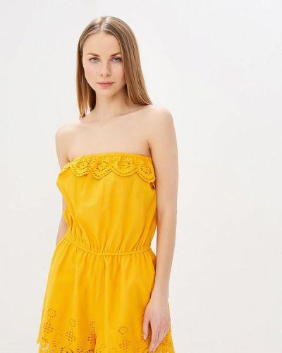 Комбинезон с шортами желтый индийский Dorothy Perkins