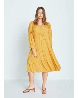 Платье миди с V-образным вырезом с рукавами Mango