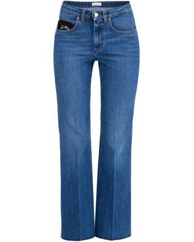 Расклешенные джинсы с аппликацией на пуговицах Sonia Rykiel