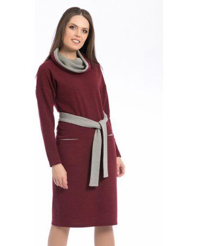 Платье с поясом теплое с длинными рукавами Modellos