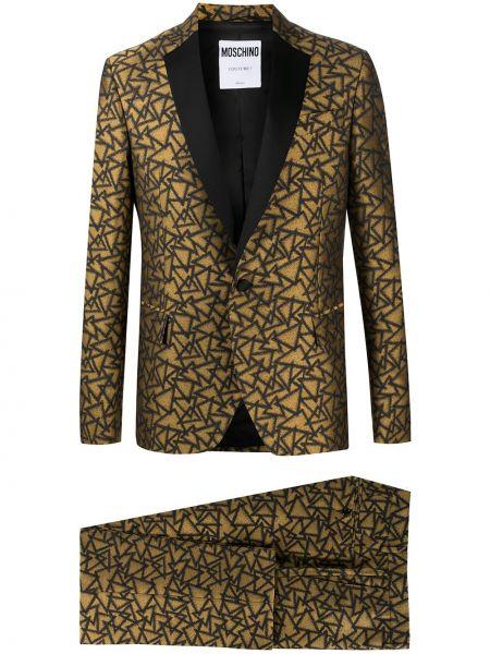 Хлопковый костюмный костюм золотой Moschino