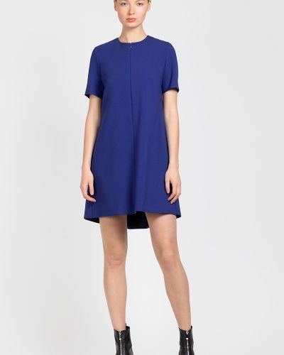 Платье из вискозы синее Vassa&co