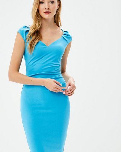 Бирюзовое платье весеннее City Goddess