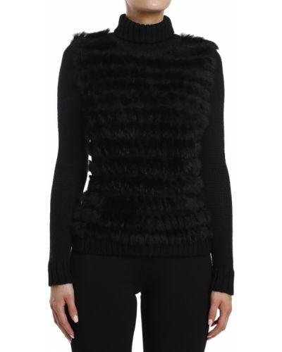 Акриловый черный свитер Gf Ferre