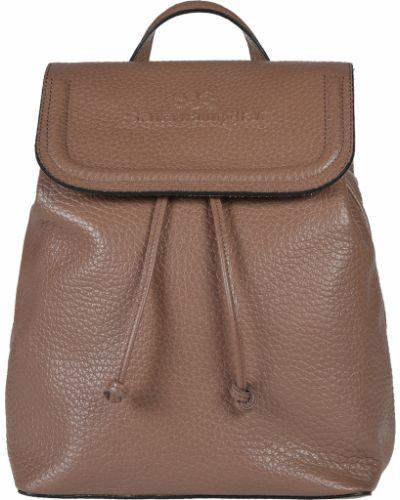 Кожаный рюкзак - коричневый Sara Burglar