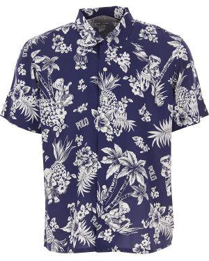 Koszula krótkie z krótkim rękawem lato z wiskozy Ralph Lauren
